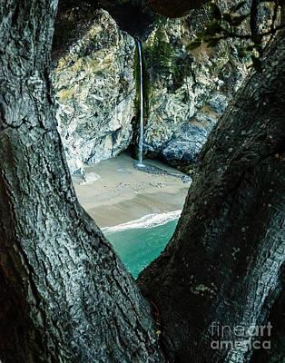 Beach Photograph - Mcway Falls-big Sur by David Millenheft