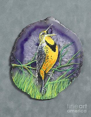 Meadowlark Mixed Media - Meadow Soloist I by Bob Williams