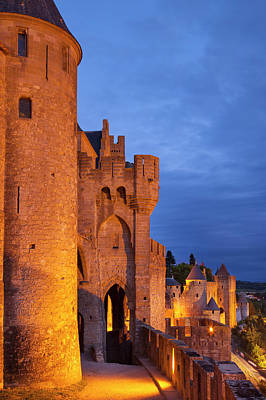 Languedoc Photograph - Medieval Town Of Carcassonne by Brian Jannsen
