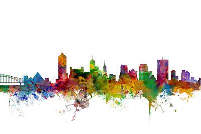 Cityscape Digital Art - Memphis Tennessee Skyline by Michael Tompsett