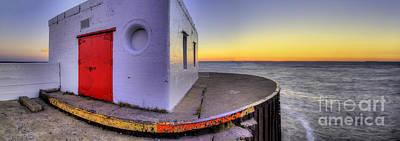 Sunrise Photograph - Menominee Lighthouse At Sunrise by Twenty Two North Photography