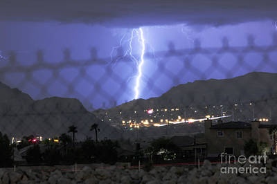 Lightning Photograph - Mental Fence by Balanced Art