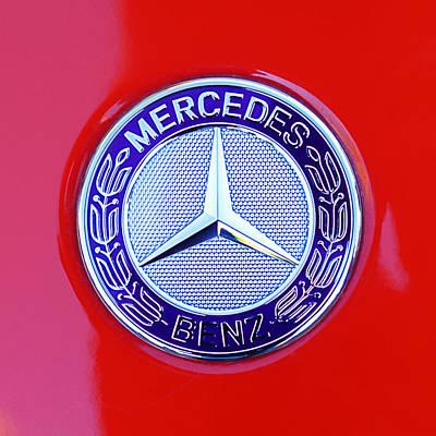 Car Photograph - Mercedes-benz 6.3 Gullwing Emblem by Jill Reger