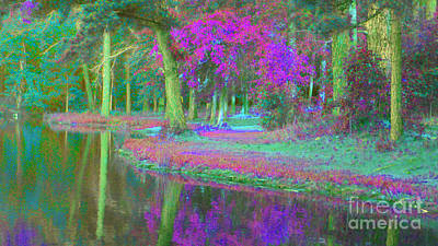 Merlin Digital Art - Merlin's Pond by Cheryl Raber