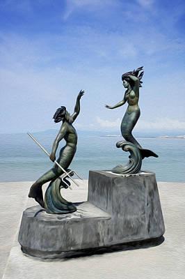 Mermaids Print by Aged Pixel