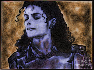 Michael Jackson Print by Betta Artusi