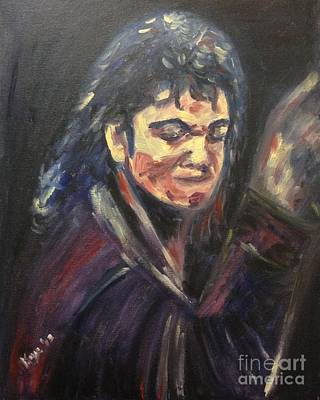 Michael Jackson Oil Painting - 'michael Jackson' by Keya Majmundar