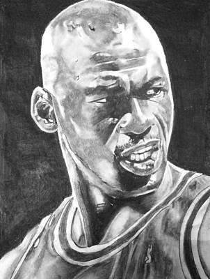 Michael Jordan Print by Aaron Balderas