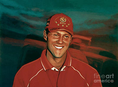 Michael Jordan Portrait Painting - Michael Schumacher by Paul Meijering