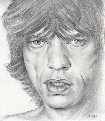 Robert Plant Framed Painting - Mick Jagger by Marina Sotiriou