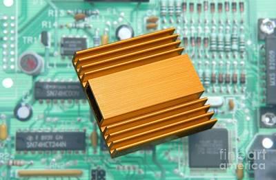 Microchip Processor Heat Sink Print by Sheila Terry