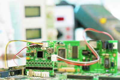 Circuit Photograph - Microelectronics Lab by Wladimir Bulgar
