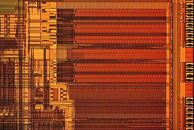 Microprocessor Components Print by Antonio Romero