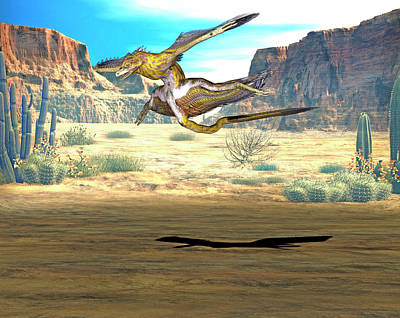 Microraptor Dinosaur Print by Friedrich Saurer