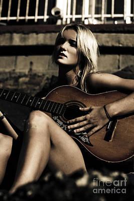 Lyrics Photograph - Midnight Musician by Jorgo Photography - Wall Art Gallery