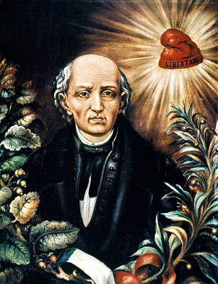 Liberating Painting - Miguel Hidalgo (1753-1811) by Granger