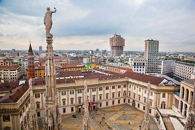 Detail Photograph - Milan Italy View On Royal Palace by Michal Bednarek