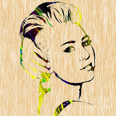 Miley Cyrus Collection Print by Marvin Blaine