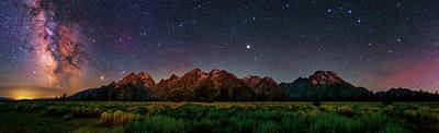Milky Way Over Grand Teton National Park Print by Babak Tafreshi