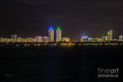Millionaire's Row Miami Beach Skyline Print by Rene Triay Photography
