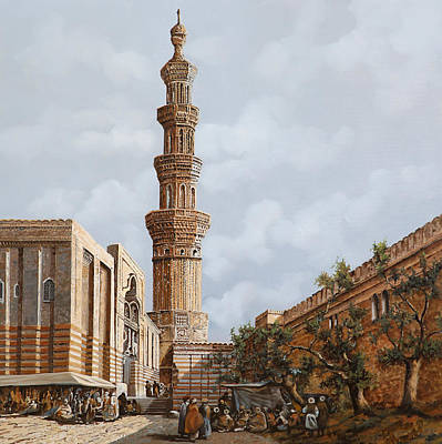 Egypt Painting - Minareto E Mercato by Guido Borelli