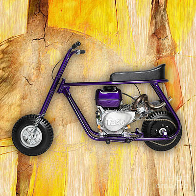 1960s Mixed Media - Mini Bike Taco 22 by Marvin Blaine