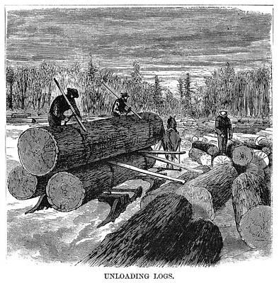 Logging Painting - Minnesota Logging, 1870 by Granger
