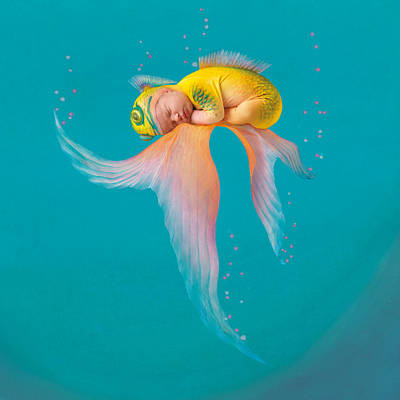 Fish Photograph - Mira As A Tropical Fish by Anne Geddes
