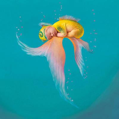 Mira As A Tropical Fish Print by Anne Geddes