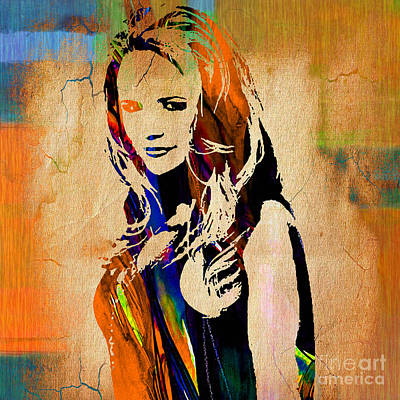 Nashville Tennessee Mixed Media - Miranda Lambert Collection by Marvin Blaine