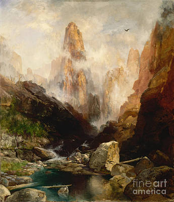 History Painting - Mist In Kanab Canyon Utah by Celestial Images