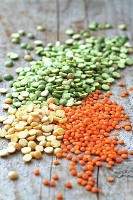 Mixed Selection Of Peas And Lentils Print by Gustoimages