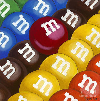 Mnm Painting - Mnm's by Carla Bank