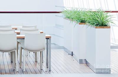 Wood Photograph - Modern Restaurant Interior by Michal Bednarek