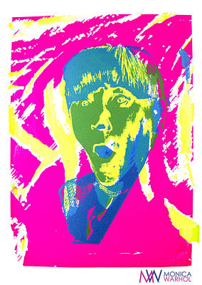 Moe Howard Print by Monica Warhol