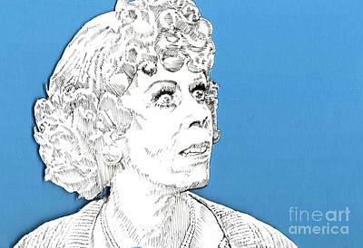 Momma On Blue Print by Jason Tricktop Matthews