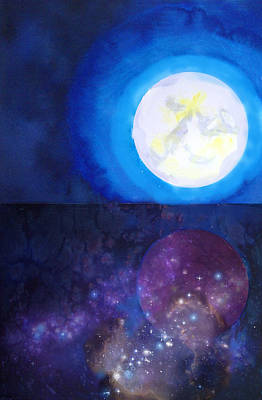 Painting - Moon Cosmos by Tara Thelen