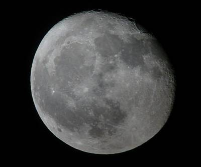 Photograph - Moon by George Leask
