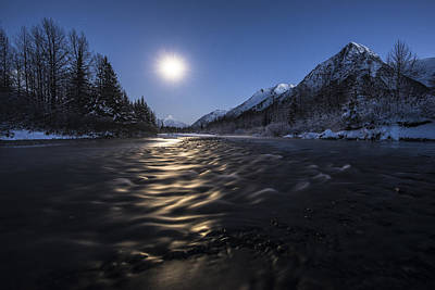 Night Photograph - Moon River by Ted Raynor