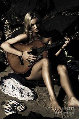 Lyrics Photograph - Moonlight Music by Jorgo Photography - Wall Art Gallery