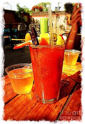 Bloody Mary Photograph - Morning Bloody by Perry Webster
