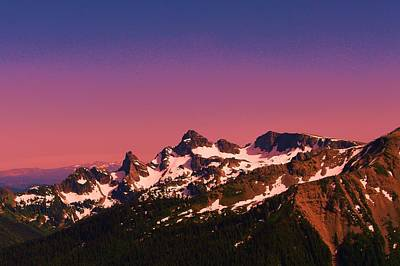 Morning In The Cascades Print by Jeff Swan