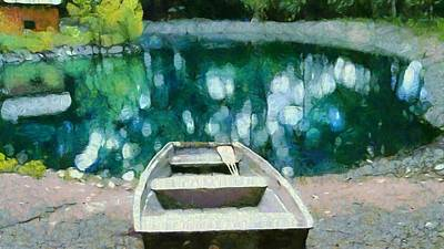 Canoe Mixed Media - Morning On The Lake by Dan Sproul