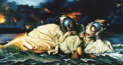 Storm Clouds Painting - Mother And Child Reunion by Patrick Anthony Pierson