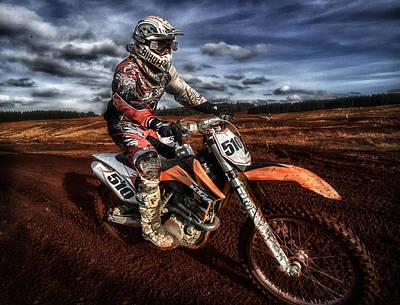 Bike Races Photograph - Motocross by Sam Smith Photography