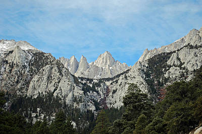 Canyon Photograph - Mount Whitney by Twenty Two North Photography