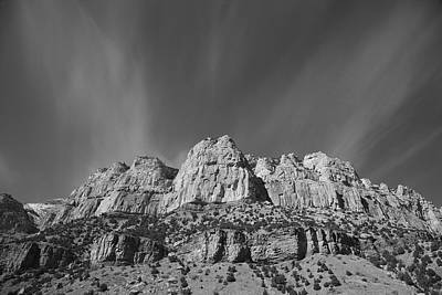 Thermopolis Photograph - Mountain Peaks And Shimmering Sky by Frank Romeo