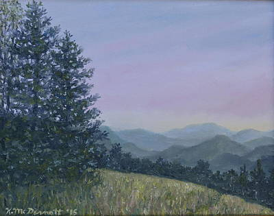 Great Smokey Mountains Painting - Mountain Vista 1 By K. Mcdermott by Kathleen McDermott