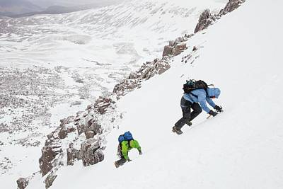 Grey Clouds Photograph - Mountaineers by Ashley Cooper