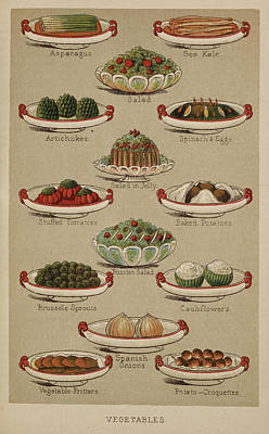 Cauliflower Photograph - Mrs. Beeton's Family Cookery And Housekee by British Library